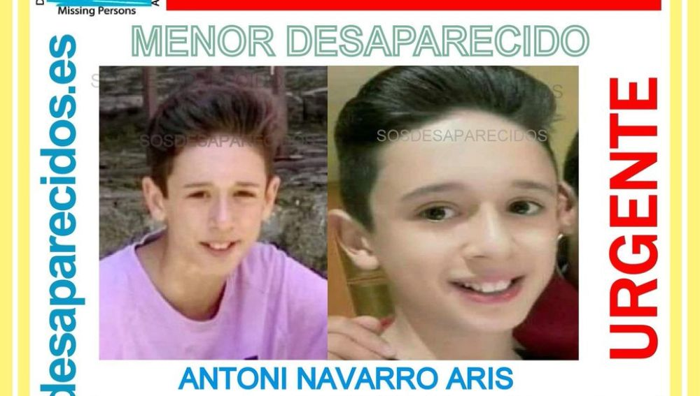 Menor desaparecido en Barcelona