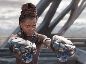 Letitia Wright es Shuri en 'Black Panther'