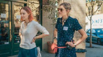Saoirse Ronan y Greta Gerwig en el rodaje de 'Lady Bird'