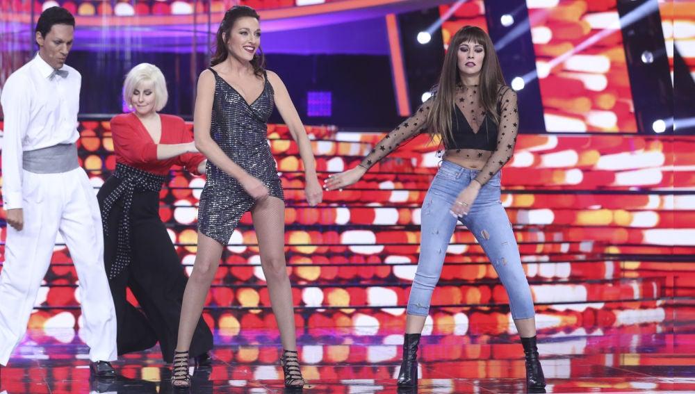 El baile viral con el que Anna Simon y Cristina Pedroche han puesto a bailar al plató de 'Tu cara me suena'