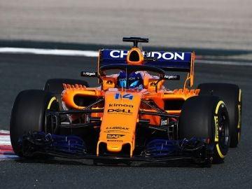 Fernando Alonso rueda por primera vez con el McLaren MCL33