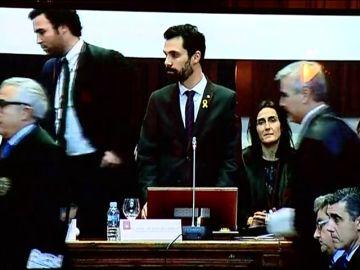 Varios altos cargos de la Justicia catalana 'plantan' a Roger Torrent en pleno discurso