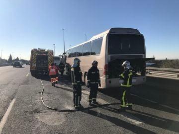 Incendio en un autobús escolar