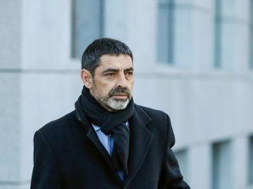 El exjefe de los Mossos d'Esquadra Josep Lluis Trapero a su llegada a la Audiencia Nacional
