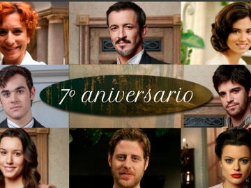 Los actores y antiguos compañeros de 'El secreto de Puente Viejo' celebran su 7º aniversario