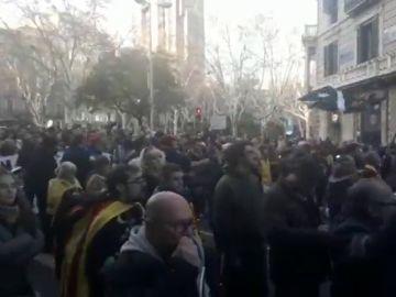 Caceroladas contra el Rey en Barcelona