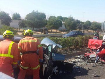 Accidente de coche en Paterna