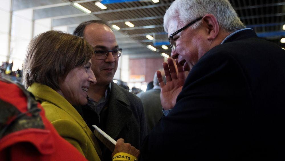 Carme Forcadell y Jordi Turrull, en un acto de la ANC