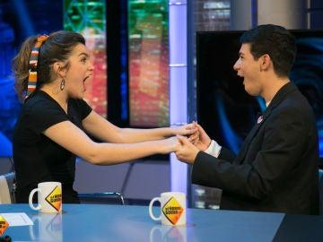 Amaia y Alfred descubren en 'El Hormiguero 3.0' que son telepáticamente compatibles