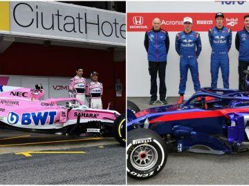 Force India y Toro Rosso presentan sus monoplazas para 2018