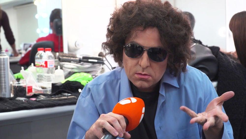 """Andrés Calamaro (aka Raúl Pérez): """"Me gustaría hacer un bolero en la final"""""""