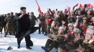 Kim Jong-Un en el monte Paektu