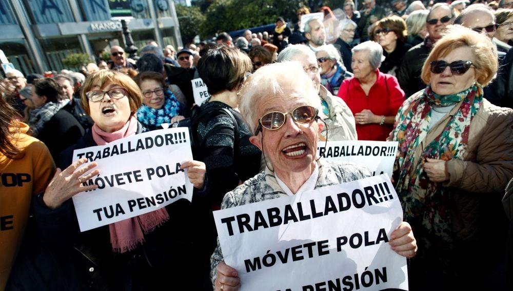 Manifestación del Movimiento Gallego por la Defensa de las Pensiones Públicas