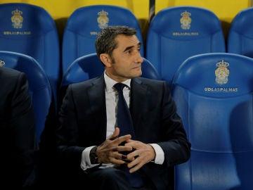 Valverde, en el banquillo de la UD Las Palmas
