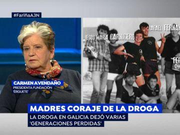 Carmen Avendaño, madre de dos drogadictos en la época de 'Fariña'