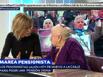 """Paquita, sobre las pensiones: """"Nos movemos porque los jóvenes que vienen detrás puedan conseguir una pensión"""""""
