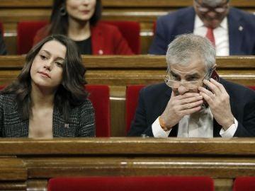 Los diputados de Ciutadans, Inés Arrimadas y Carlos Carrizosa