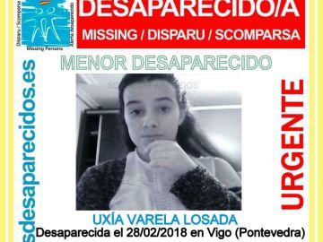 Uxía Varela Losada, menor desaparecida en Vigo