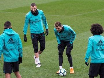 Último entrenamiento del Real Madrid antes de recibir al Getafe