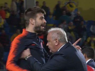 El enfado de Piqué con Mateu Lahoz
