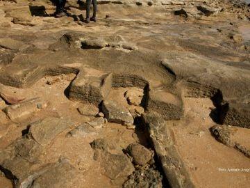 El temporal deja al descubierto unas piscifactoría romana en Trafalgar