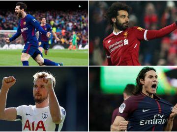 Cavani, Messi, Kane y Salah