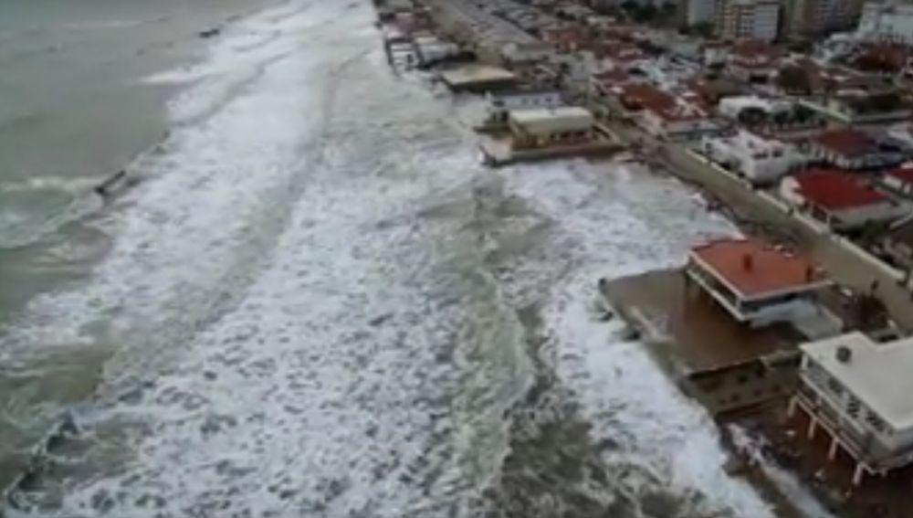 El nivel del mar en Lepe (Huelva)