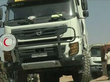 Un convoy de ayuda humanitaria