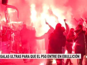 """Los ultras del PSG reciben al equipo al grito de """"P... Madrid"""""""