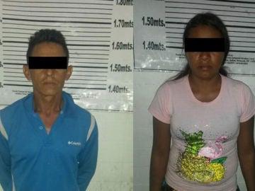 Imagen de los acusados por abusar de su sobrina