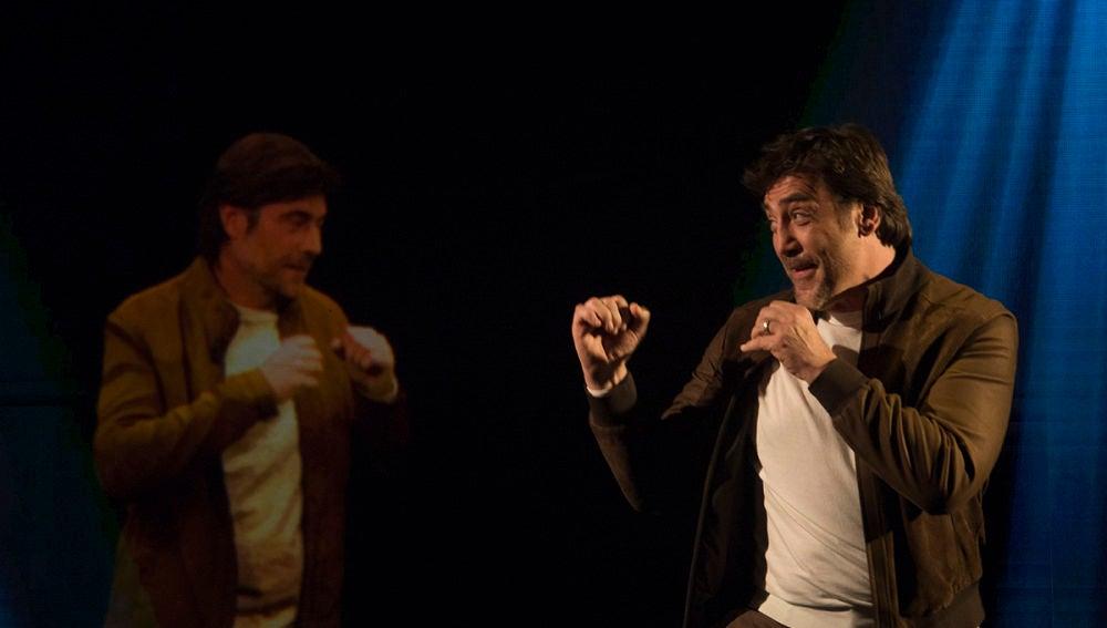 Javier Bardem charla con su alter ego virtual en 'El Hormiguero 3.0'