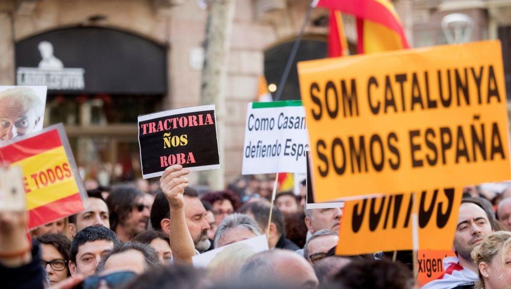 Manifestación de Tabarnia en Barcelona