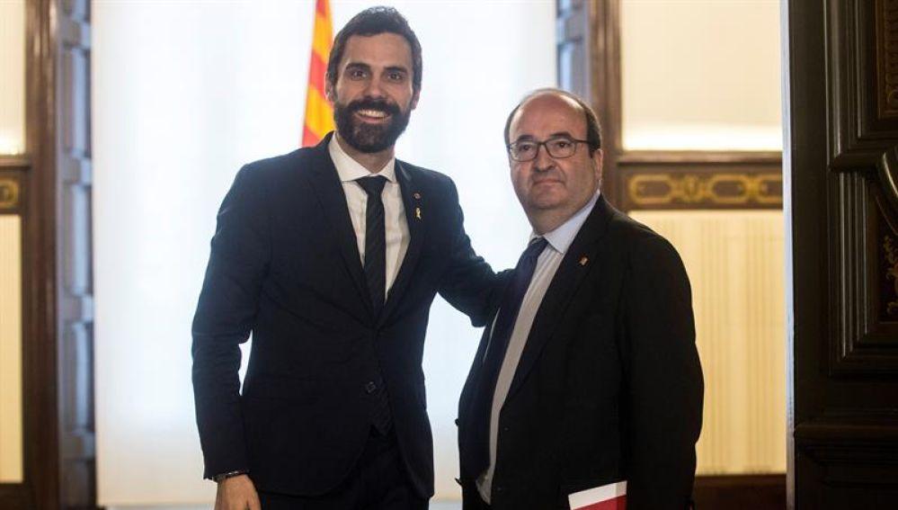 Roger Torrent y Miquel Iceta