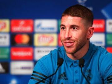 Sergio Ramos, en la rueda de prensa previa al partido frente al PSG