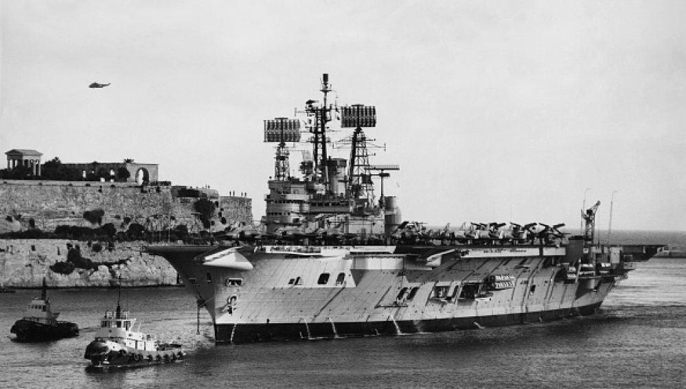 Imagen de archivo de un portaaviones