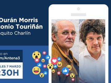 Los Charlines Morris y Xosé Antonio Touriñán responderán a las preguntas de los fans de 'Fariña' el miércoles
