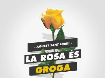 El independentismo pide a los ciudadanos que en el próximo San Jordi regalen rosas amarillas