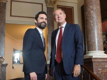 Torrent junto al presidente del círculo de directivos de habla alemana