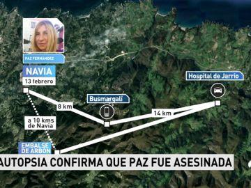 """La autopsia confirma que la asturiana Paz Fernández sufrió una """"muerte violenta"""""""