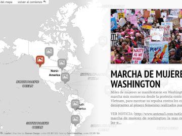 Mapa interactivo sobre los avances feministas en el mundo