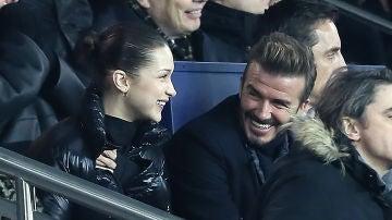 Bella Hadid y David Beckham