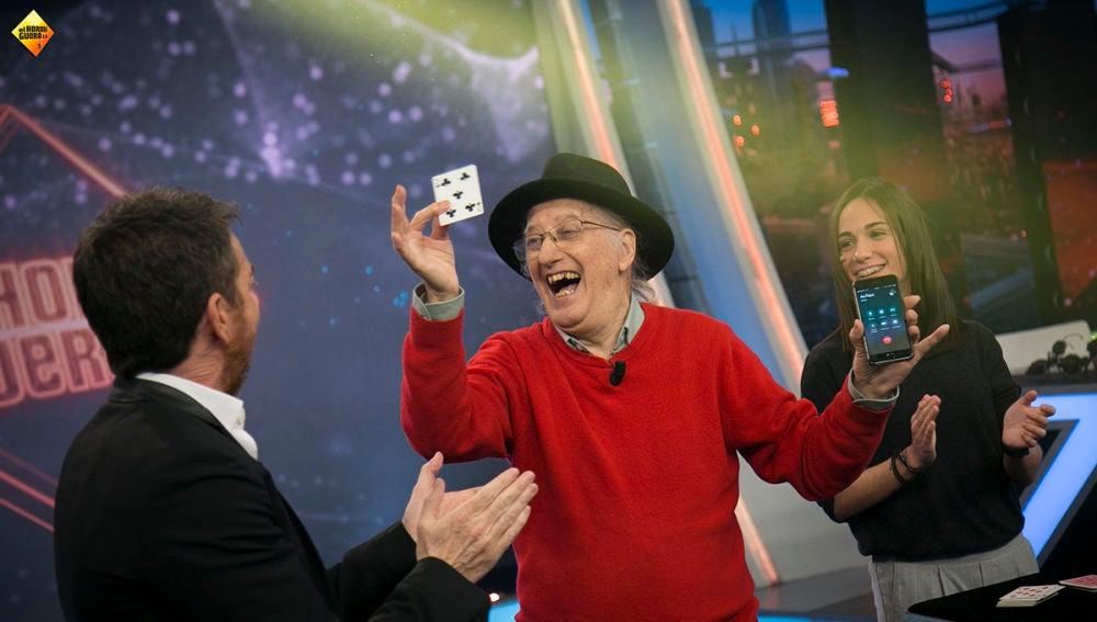 Juan Tamariz sorprende al público de 'El Hormiguero 3.0' con su magia telepática