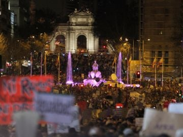 Manifestación en Madrid como colofón a una jornada reivindicativa coincidiendo con el Día Internacional de la Mujer