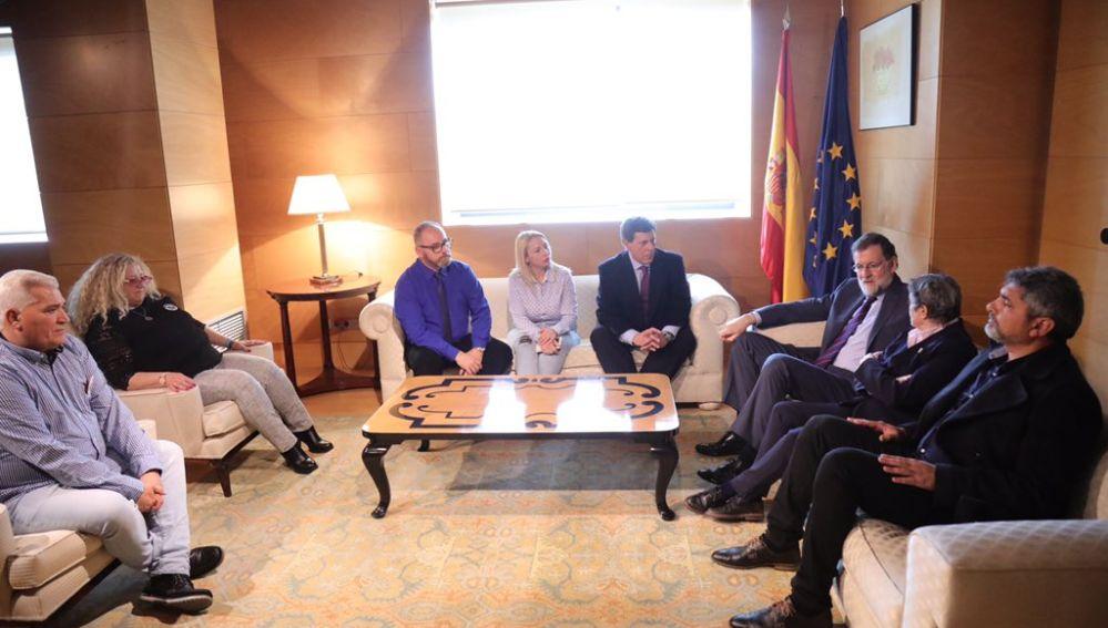 Mariano Rajoy se reúne con las víctimas