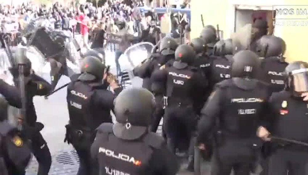 Enfrentamientos en Lavapiés