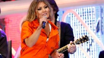 Amaia Montero durante los Premios Cadena Dial