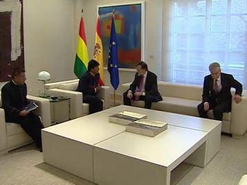 Rajoy recibe a Evo Morales