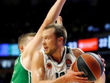 Lekavicius entra a canasta ante la defensa de Nedovic