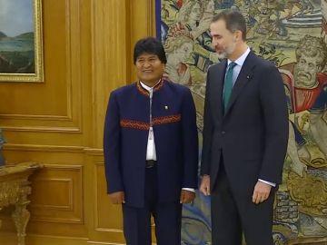 Felipe VI se reúne con Evo Morales, que se encuentra de visita oficial en Madrid