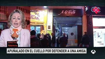 Un joven, apuñalado en el cuello por defender a una amiga que estaba siendo acosada en Valencia